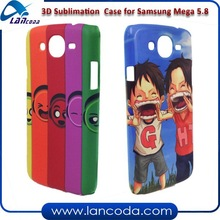 Newest blank 3D sublimation printing phone case for Samsung Galaxy mega 5.8 9150 phone cover