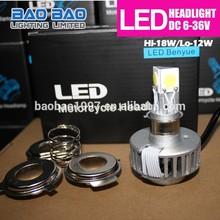Winner Promotion moto headlight, led headlight lumileds cob lumens, COB led motorcycle headlight 1800lm 20w BAOBAO Lighting