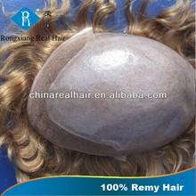 Cheap Natural Hair 100% Human Remy Hair Mens Hair Piece