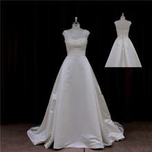 2013 lace boat neck organza wedding dress muslim