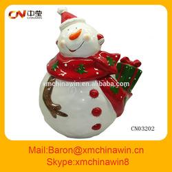 Ceramic Christmas cookie candy jar