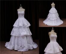 fluffy princess style free shipping new model 2013 wedding dress
