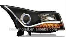 assembly car parts with xenon bulb 12v new model cruze head lamp