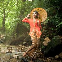 Sample free factory price kebaya dress kebaya