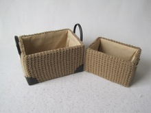 S/2 Warm-winter hot sell knitted Storage Box