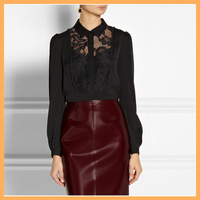 lady simple lace saree blouse back neck designs