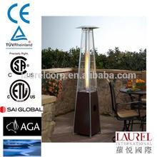 2015 Restaurant decorative pyramid type flame gas patio heater