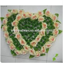 heartshape artificial rose wedding decoration car flower