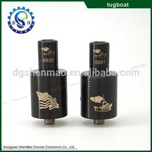 india online shopping 2014 Newest electr cigaret mechanical 1:1 rda Tugboat RDA atomizer
