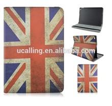 UK Flag Pu Leather Case for ipad air 2, For iPad air 2 UK Flag Leather Case