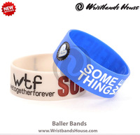 2014 Popular 1 inch silicone wristbands | Hot sale 1 inch silicone wristbands | Amazing Custom 1 inch silicone wristbands