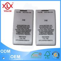Iron on satin printed label