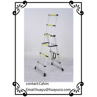 Double side foldable aluminium step ladder EN131/SGS