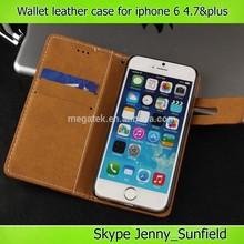 Mobile phone case plain pu wallet leather case for iphone 6, for iphone 6 case wallet ,for iphone 6 plus case leather