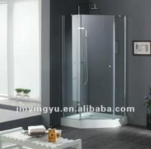 ACOC2807CL frameless diamond style hinge open simple shower room