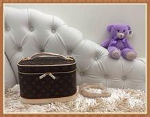 Designer women leather cosmetic bag