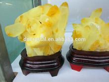 Maravilhoso citrino natural geode, citrino cristal uva clusters
