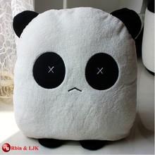 custom promotional lovely plush panda cushion