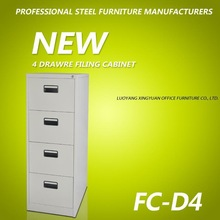 Steel 4 drawer mobile pedestal for file