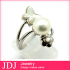 Latest Design Statement Natural Stone Jewelry Smart Pearl Ring Girl Costume