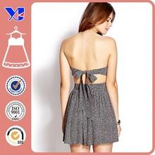 Backless mature charming strapless dress evening dress