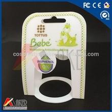 Baby feeding bottle plastic packaging