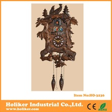 antique design large size wooden cuckoo wall clock