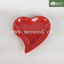 plastic melamine heart shape plate