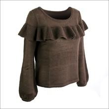 Crewneck long sleeve women's acrylic sweater pullover DMJ-SW014