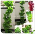 venta al por mayor hojas de uva artificiales para la decoración del hogar