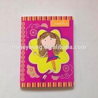cardboard cover customized printing fashion sketch sew binding notebook