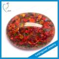 venda quente vermelho forma oval opala preço por grama