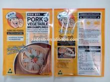 Clear Plastic PET & PE Frozen Dumplings Food Packaging Bag