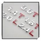 custom alphabet letters plastic car emblem,3D ABS car badges