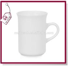 Hot Sale!!! Sublimation Coated 10oz White Mugs with Box in Bone China Curled Rim
