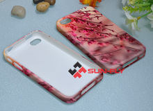 SUN-FLY Sublimation 3D Flexible phone case for iPhone 4/4s,customed TPU phone case for iphone