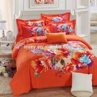 Luxury commercial bed linen bridal bedding 3D flower pattern duvet cover set 4pc chinese wholesale european style bed linen