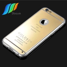 High quality ultra-thin mirror soft shell for iphone6&iphone6 plus