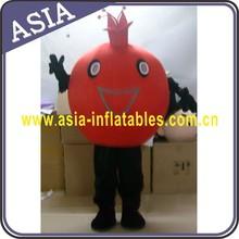 Omergranate mascot custume, fruit mascot custome, cheap plant mascot