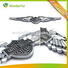 china supplier custom silver wings design abs car emblem