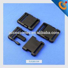 luggage strap belt clip plastic side release buckles 20mm - black black metal buckle children plastic side release buckle