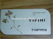 High Quantity, Fashion Design Loyalty PVC Card for supermarket Club