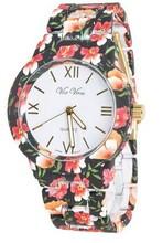 Unisex Geneva Flower Style Women Watch