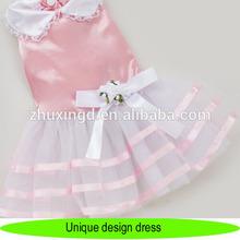 New, fashionable & unique design dress pet dogs, pet pink dress with bowknot