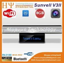 Sunvell V3II Android 4.2 TV box Quad Core XBMC Mini PC Camera 5.0MP RK3188 1G/8G HDMI 1080P 3D Media player Skype