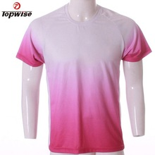 Factory Price 2015 Summer Polyester Dri Fit Printed Sports Tops