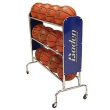 12 Ball Wide floor standing metal Basketball Rack ball rack