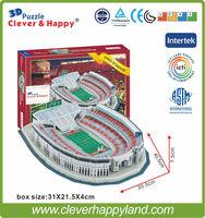 Hot Sale 2014 New Product Puzzle Paper 3D stadium Model Ohio Stadium USA Souvenir