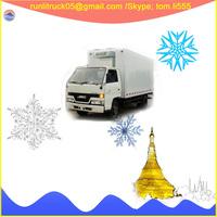 JMC shunda JX1060TG24 euro 4 LHD 6 wheel refrigerator freezer truck 4ton for sale in peru