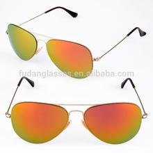 Italian Brand Sunglasses 3513 Gold Mirror Orange lens Wholesale Fashion Sun glasses